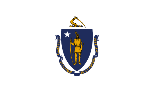 Massachusetts' flagg