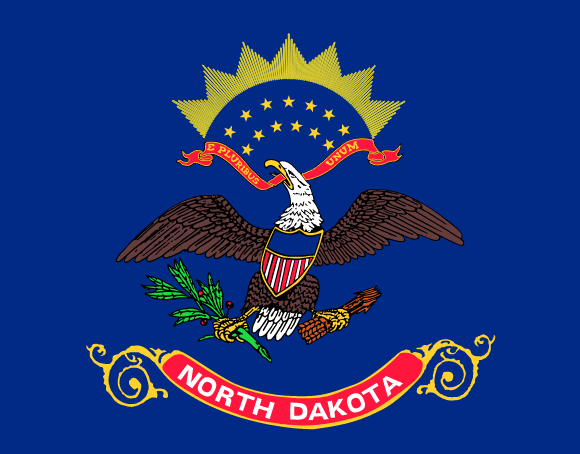 Flagge North Dakotas