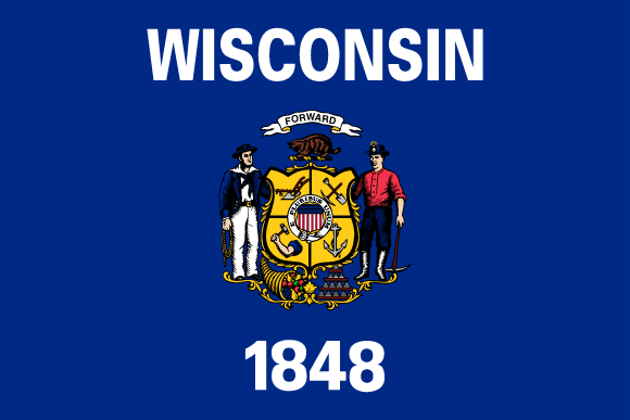 Wisconsins flagga